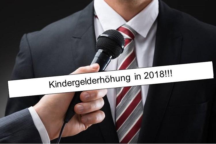 Politiker Kindergelderhoehung 2018