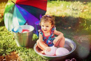 Badespass Kinder Urlaub zuhause